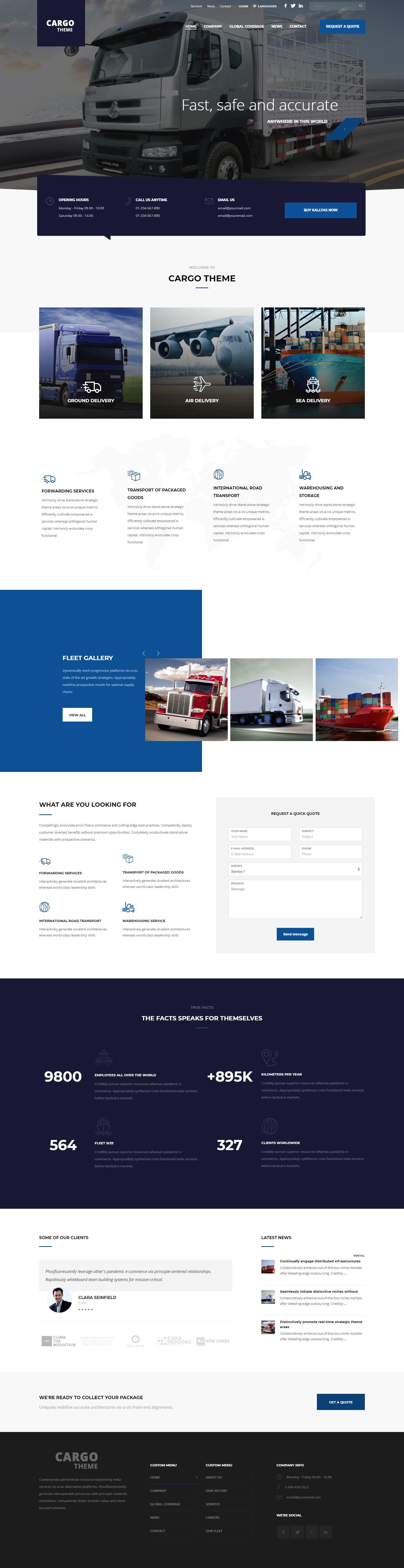 web designing company Kolkata| cargo