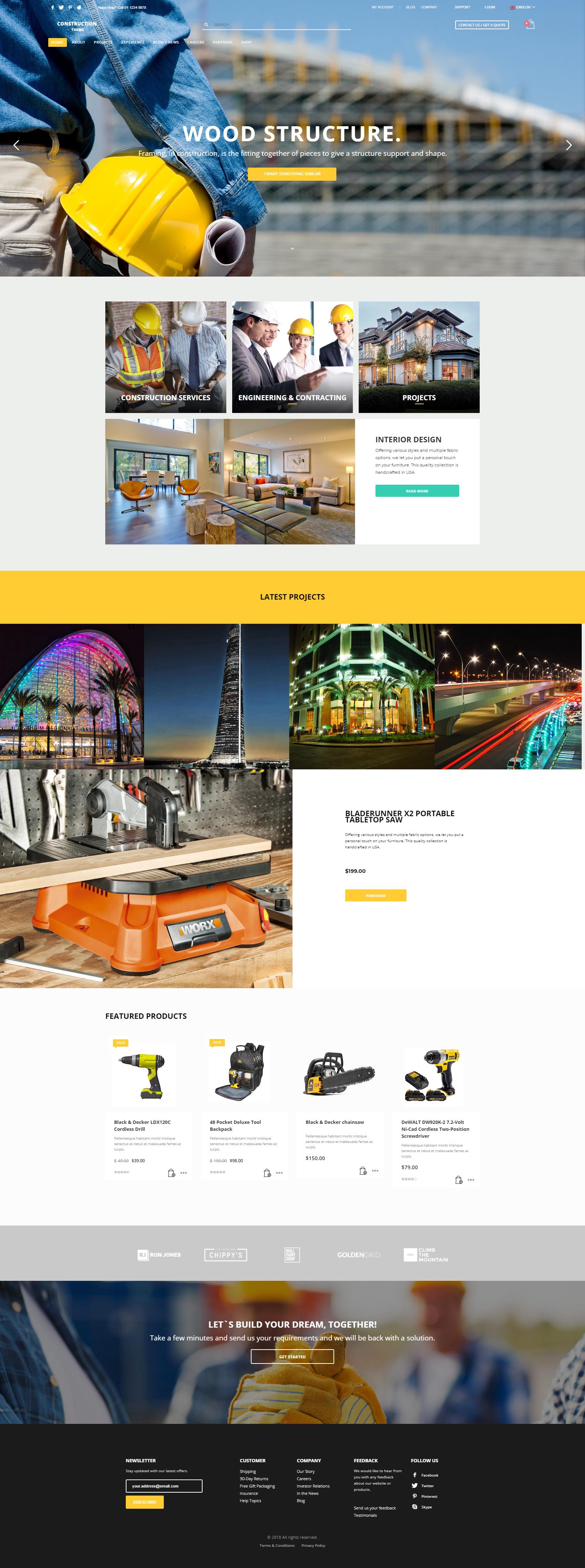 constructions   website designing
