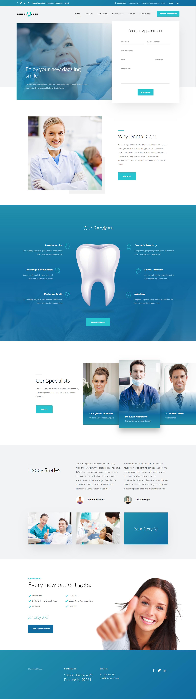 dentalcare - website designing