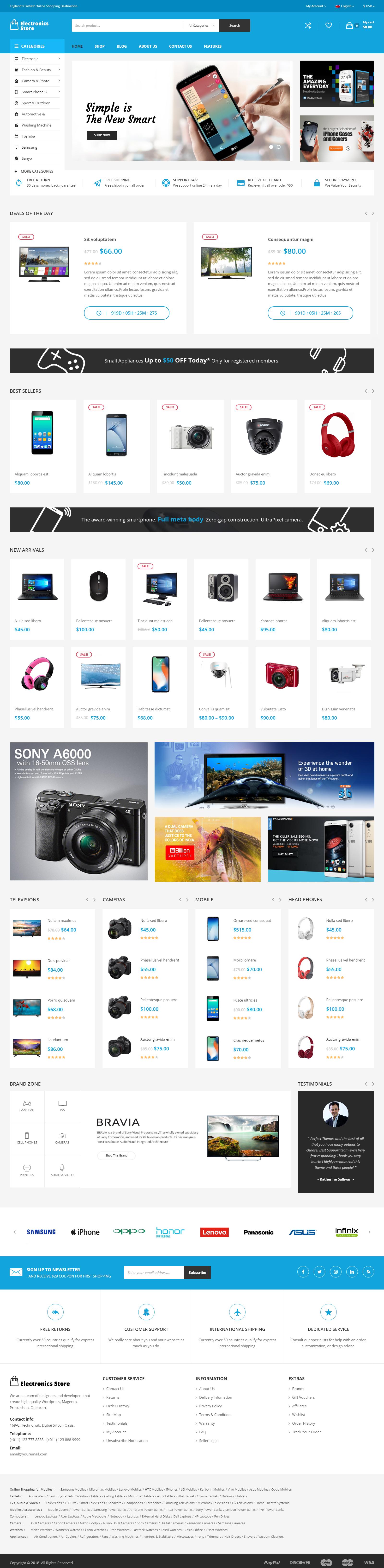 electronics-store - web design company Kolkata